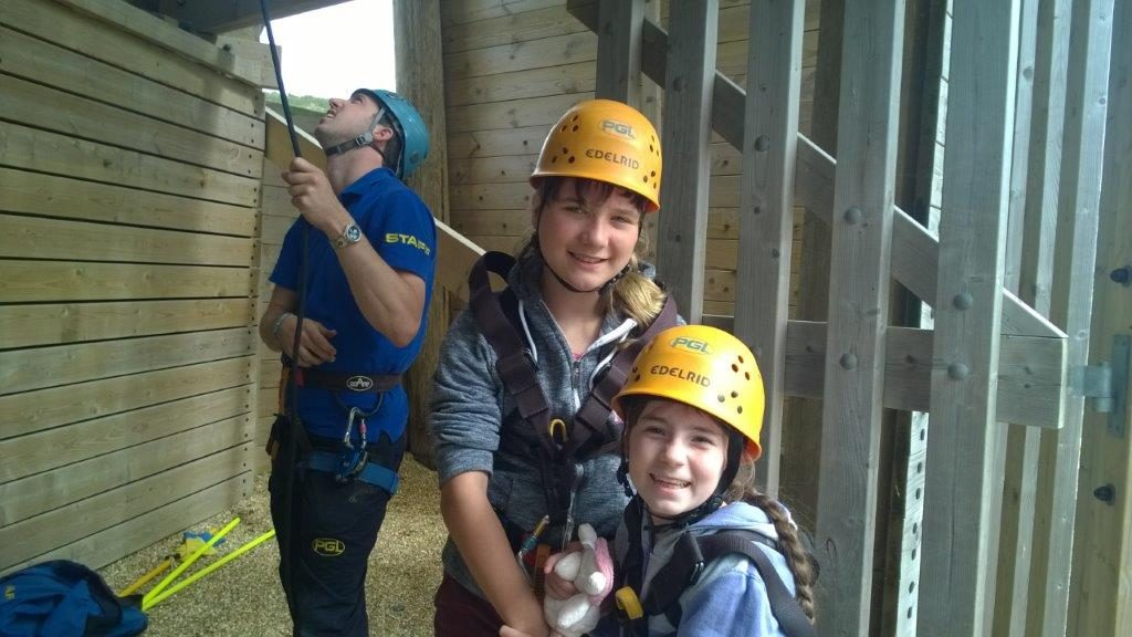 Two PALS members during a climbing session