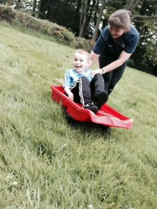 Owen K Grass sledging 4 May 16