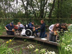 PALS members going pond dipping